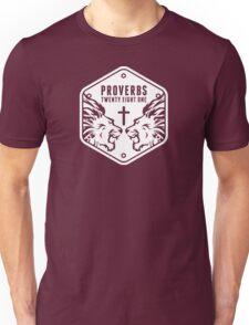 Proverbs 28:1 Ragnar Supporters Hexagon T-Shirt