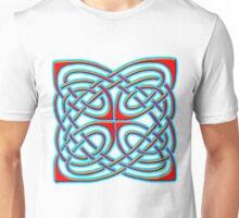 Celtic Illumination - Square Knot Unisex T-Shirt
