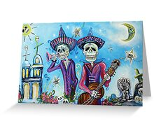 Secrets Of The Mariachi (All Saint's Day) Greeting Card