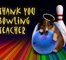 Thank You Bowling Teacher Sheltie Puppy Angel by jkartlife