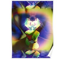 6103 Orchid Abstract Poster