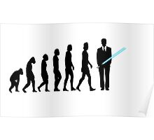 Evolution to Star Wars Poster