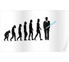Evolution to Star Wars Poster
