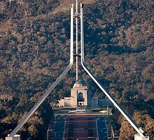 Parliament and war memorial australia by Steven Ralser