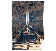Parliament and war memorial australia Poster