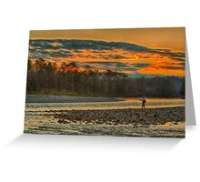 Sunset Fishing the Skykomish River Greeting Card