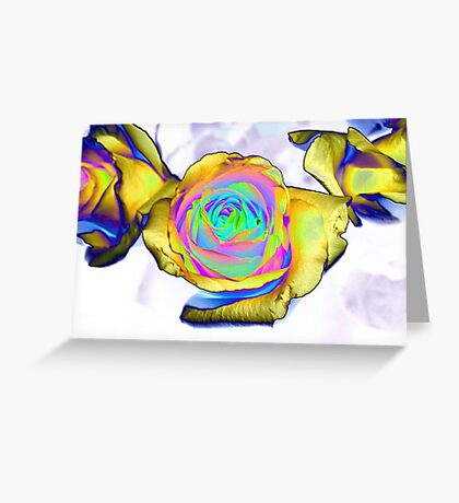 Multi colored flower Greeting Card