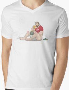 Pooh Bear Mens V-Neck T-Shirt