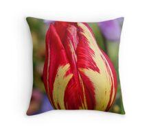 Tulip bokeh Throw Pillow