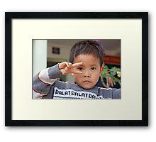 Vee Salute Framed Print