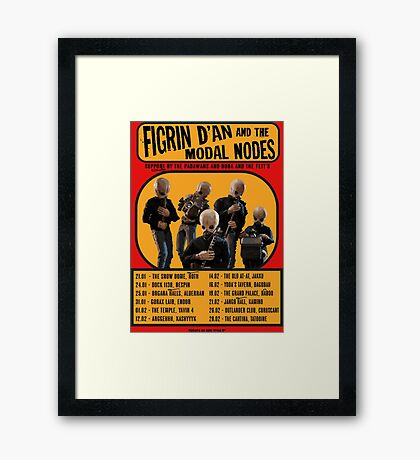 The Cantina Band Tour Poster Framed Print