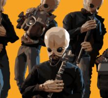 The Cantina Band Tour Poster Sticker