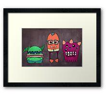 Dorky Monsters Framed Print