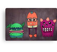 Dorky Monsters Canvas Print