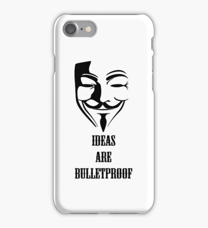 V For Vendetta Ideas Are Bulletproof Iphone Case iPhone Case/Skin