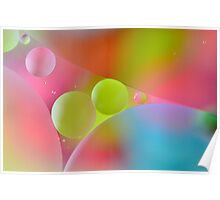 oil & water abstract Poster