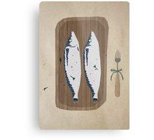 fish illustration Metal Print