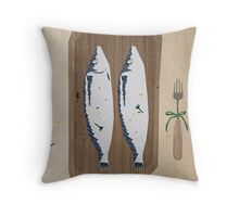 fish illustration Throw Pillow
