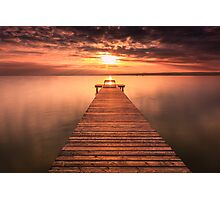 Sunset & Pier Photographic Print