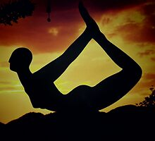 Yoga at Sunset  by BryonySly