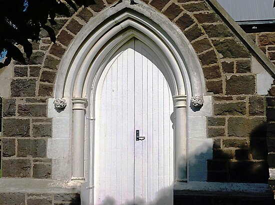 *Church door - Uniting Church - Koroit, Vic.* by EdsMum
