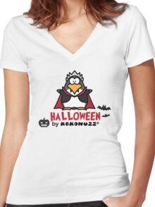 Halloween DraKOOla - The Penguin Vampire Women's Fitted V-Neck T-Shirt