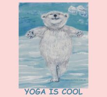 'Yoga is Cool' Yoga Bear in 'Icy Pole Pose' (tree pose) Kids Clothes