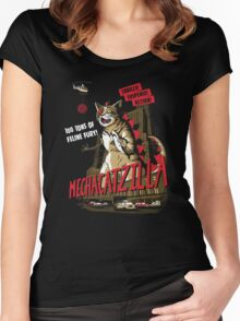 Mecha-Catzilla V2 Women's Fitted Scoop T-Shirt