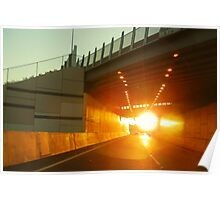 Sunset Tunnel Poster