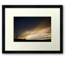 Hanging Gallows at Sunset Framed Print