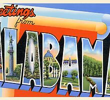 Alabama Vintage Greetings by TravelShop
