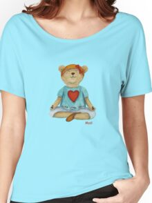 Live Love Yoga Bear Madi (no background) Women's Relaxed Fit T-Shirt