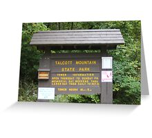 Talcott Mountain State Park Greeting Card