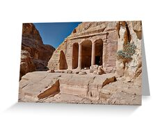 Garden Temple in nabataean ancient town Petra Greeting Card