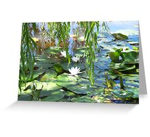 All white under the willows  Greeting Card