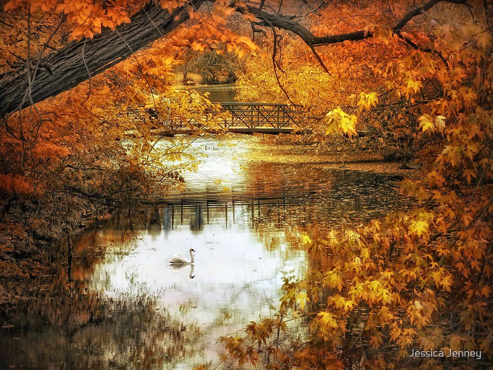 Footbridge Reflections by Jessica Jenney