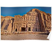 Palace Tomb in Nabataean ancient town Petra Poster