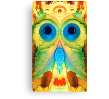The Owl - Abstract Bird Art by Sharon Cummings Canvas Print