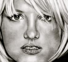 Britney in black and white Sticker
