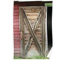 Wooden Barn Door Poster