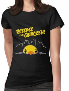 Release The Quacken Womens Fitted T-Shirt