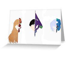 Neon Genesis Evangelion Minimalist Greeting Card