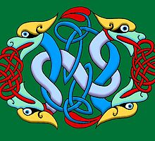 Celtic Illumination - Dragon Knot by William Martin