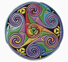 Celtic Illumination - Trinity Swirl I by William Martin