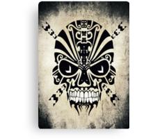 The Devil Inside - Cool Skull Vector T Shirt Design Canvas Print