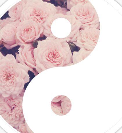 Ying Yang Symbol (Flowers) Sticker