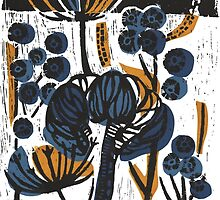 Natural Form Relief Print by Jenni  Hepworth