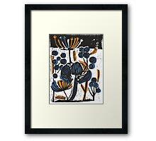 Natural Form Relief Print Framed Print