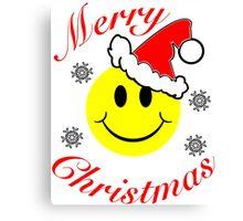 Christmas Smiley Canvas Print