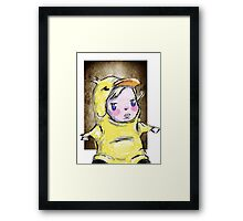 duckie in colour Framed Print